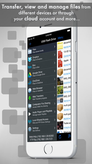 USB Flash Drive Pro - File Manager & Cloud Storage iPhone