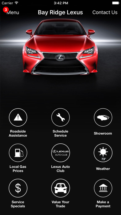 Bay Ridge Lexus DealerApp iPhone Screenshot 1