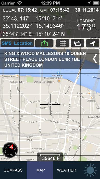 Compass GPS/A.T(Weather,Map,Speedometer,Altimeter) Screenshots