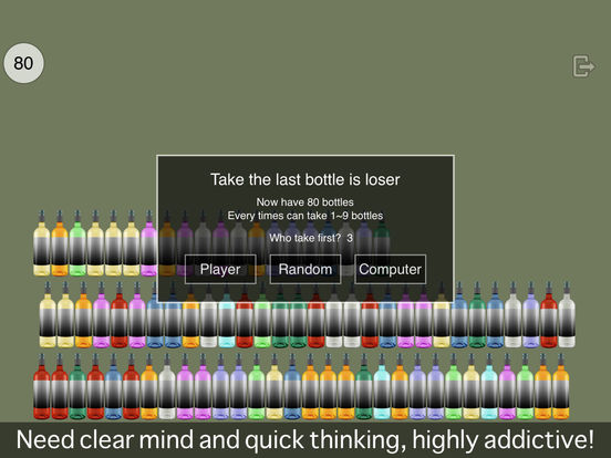 Puzzle of Taking how many bottles ( PK in bar ) Screenshots