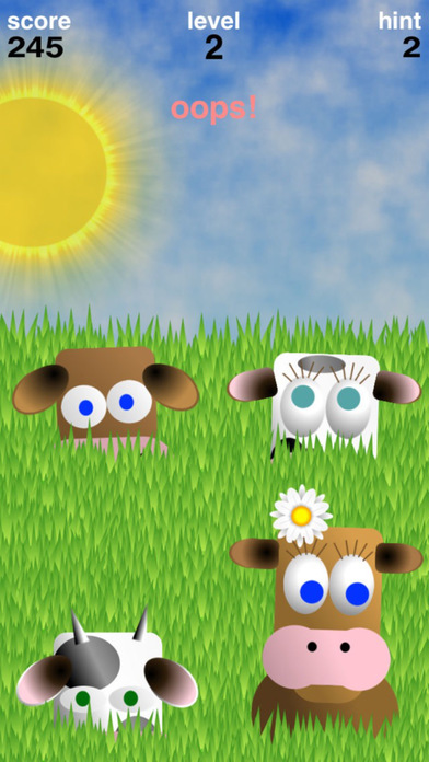 Simoo Free - The simple memory game with cows! iPhone Screenshot 4