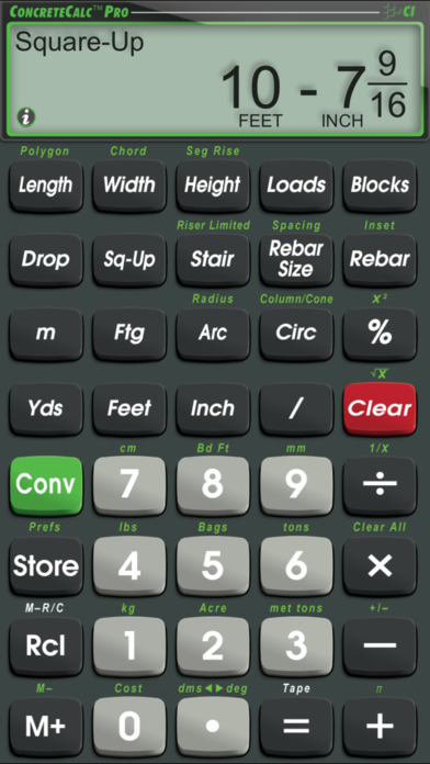 ConcreteCalc Pro iPhone Screenshot 3