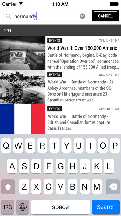 Today In History iPhone Screenshot 5