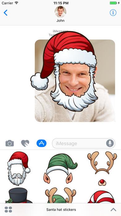 Santa Hat - Stickers for iMessage screenshot 3