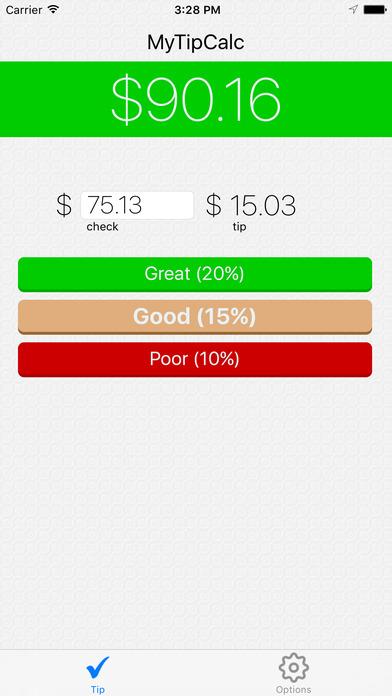 MyTipCalc iPhone Screenshot 1