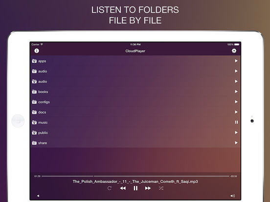 CloudPlayer Pro - audio player from clouds Screenshots