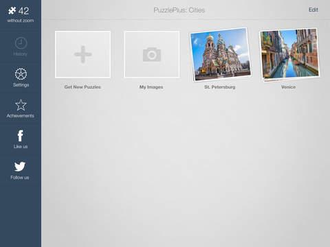 Пазлы Города для iPad