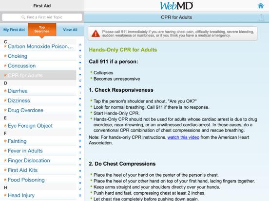 WebMD for iPad iPad Screenshot 5