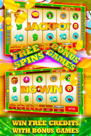 Big Puppy Dog Safari Slots: Amazing free casino wins and bonus prizes screenshot 2