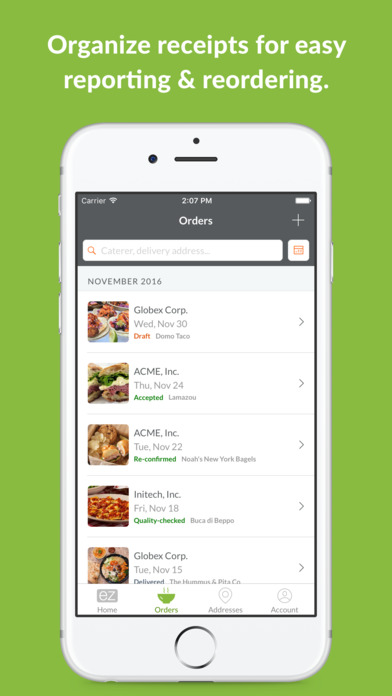 ezCater - Business Catering & Restaurant Delivery Apps free for iPhone/iPad screenshot