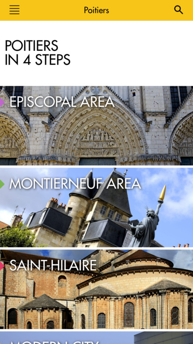 Audio guide of Poitiers iPhone Screenshot 2