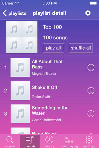 umusio - free music with playlists screenshot 2
