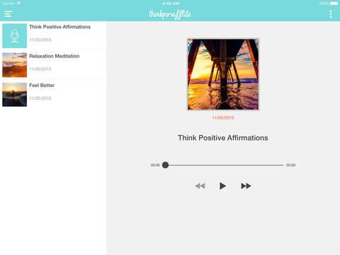 Think Positive Affirmations Lite iPad Screenshot 1