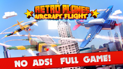 Retro Planes . Mini Pixel Air Craft Flight Game 3D Screenshot