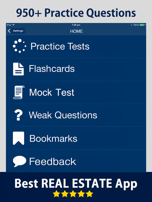 Real Estate Licensing Exam Prep – Q&A & Flashcards on the App Store