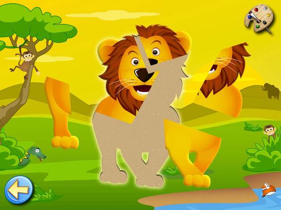 Животные саванна: игры для малышей, пазлы детей 2+