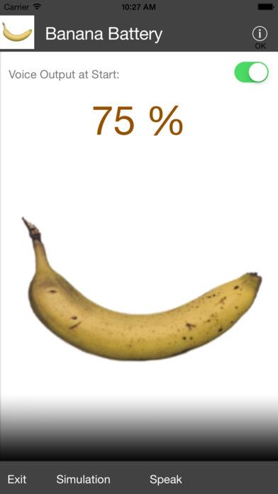 Banana Battery iPhone Screenshot 2