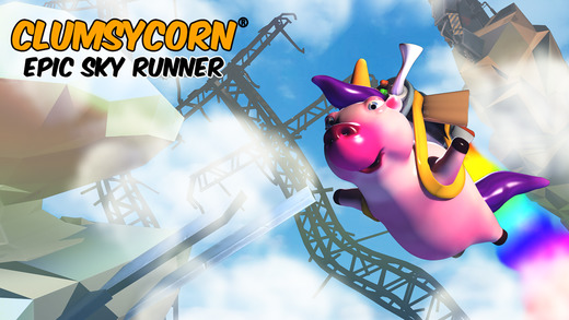 Clumsycorn: Epic Unipig Sky Runner Screenshot