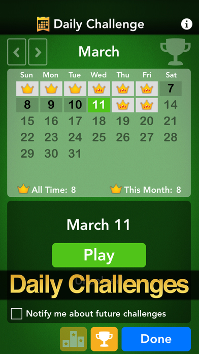 Screenshots of Solitaire by MobilityWare for iPhone