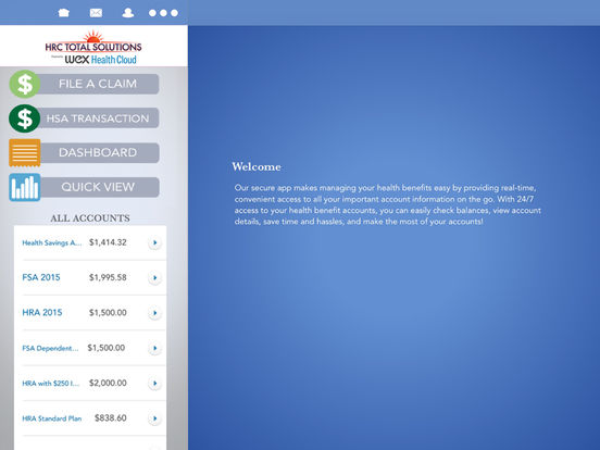 HR Concepts' Mobile Benefits iPad Screenshot 1