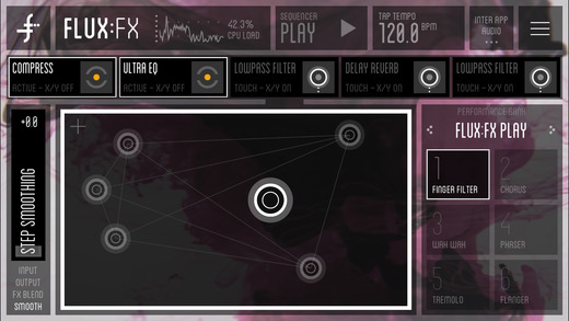 FLUX:FX play - the professional audio multi-effects engine by Adrian Belew Screenshots