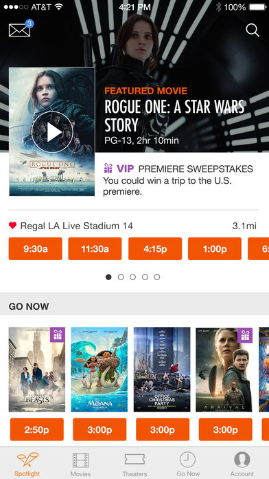 Fandango - Showtimes + Tickets screenshot 1