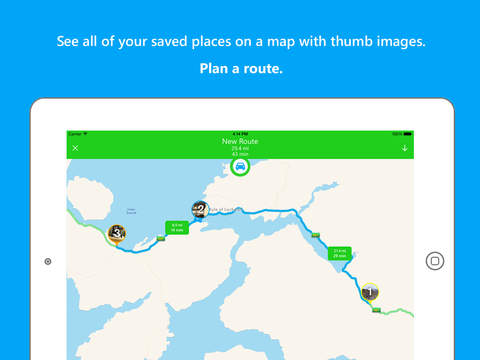 JourneyPin - Location Organizer & Trip Planner - Discover | Save | Route | Share | Drone screenshot