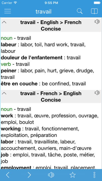 Dict Box - English French bidirectional version iPhone Screenshot 5