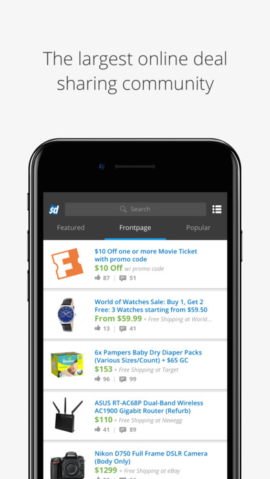 Slickdeals: Shopping for Deals, Coupons, Discounts on the App Store