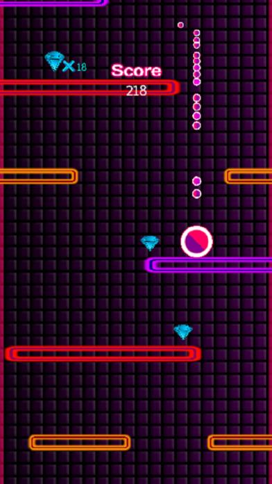 Pink Glow Fall Down Screenshot