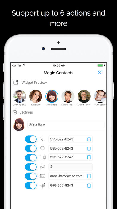 Magic Contacts Pro with Notification Center Widget 앱스토어 스크린샷