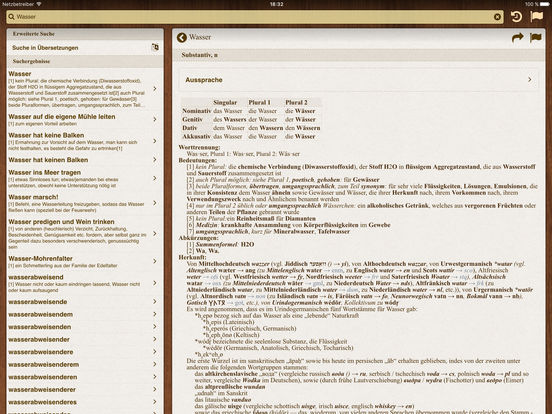 German BigDict iPad Screenshot 1