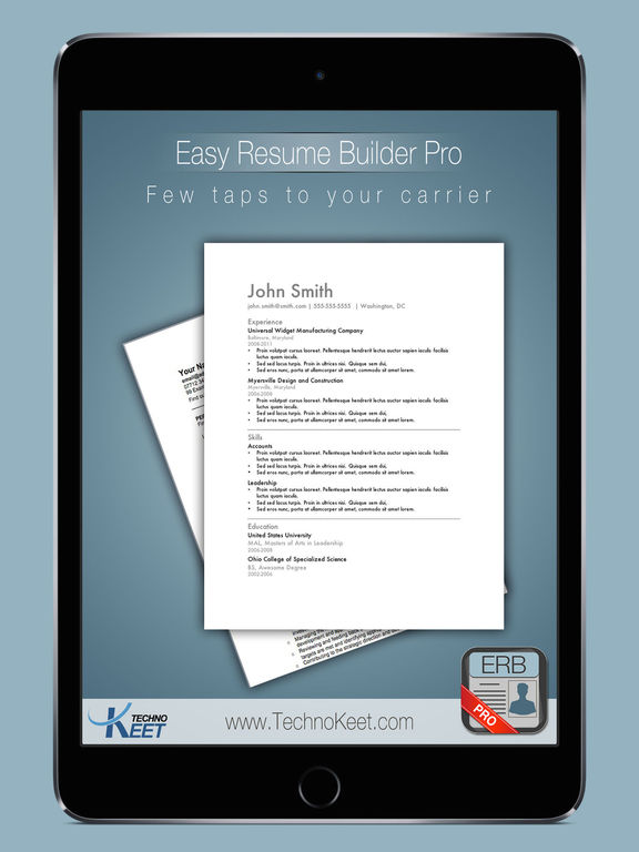 Easy Resume Pro: Resume Notepad for Job Search Screenshots