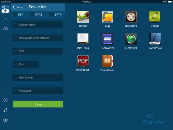 iTransfer Pro - FTP,SFTP,FTPS,Cloud Drive Manager Screenshots