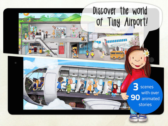 Tiny Airport - Interactive Activity App for Kids Screenshots