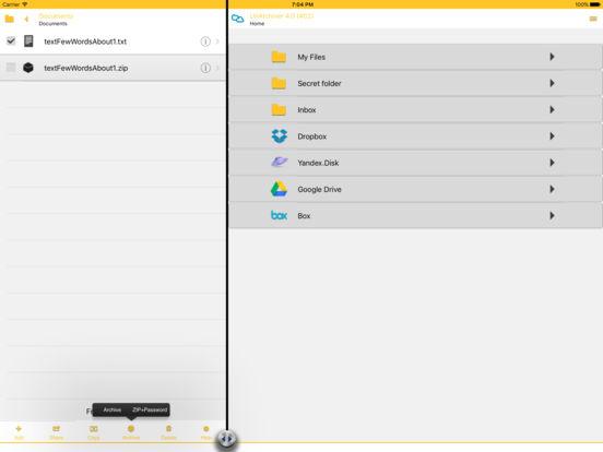 UnArchiver (zip / unzip / unrar) iPad Screenshot 1