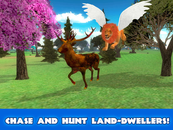 Wild Flying Lion Simulator 3D Full screenshot 8