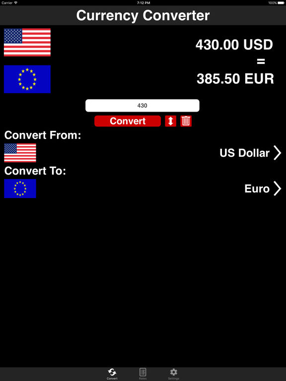 World Currency Converter screenshot