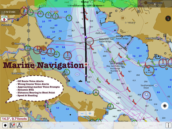 i-Boating: GPS Nautical / Marine Charts - offline sea, lake & river navigation maps for fishing & sailing screenshot