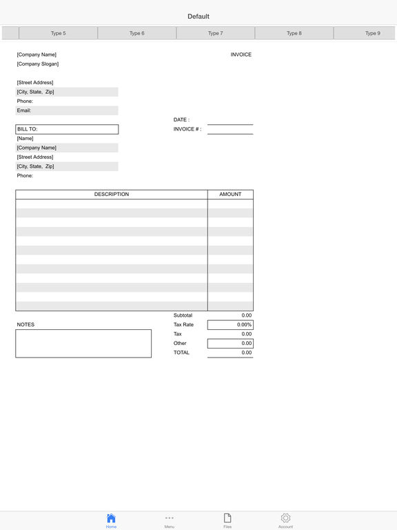 Auto Repair Invoice Screenshots