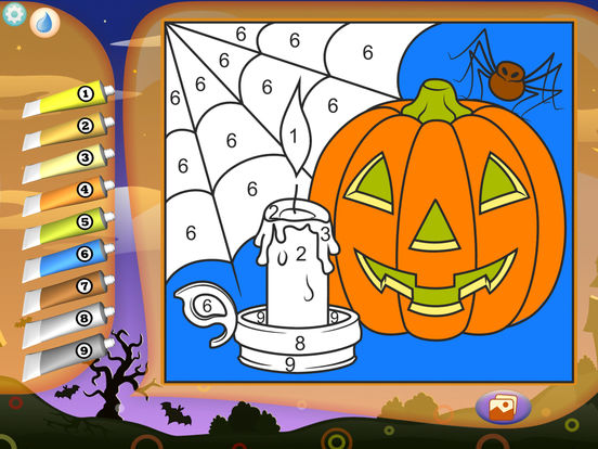 Color by Numbers - Halloweenscreeshot 5