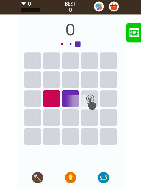 App shopper squares a game about matching colors games for Paint color matching app