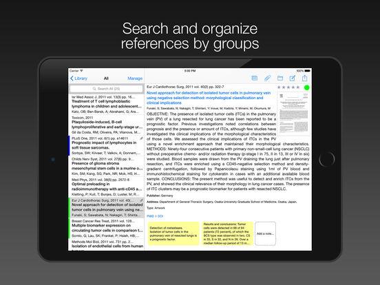 PubMed On Tap Lite iPad Screenshot 1