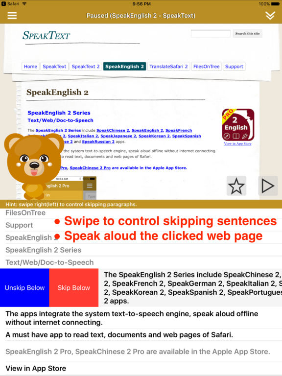 SpeakEnglish 2 (41 English TTS Voices) Screenshots