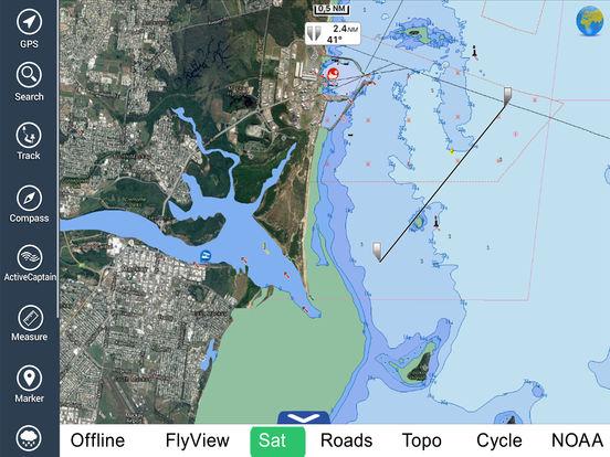 Marine: Coral Sea HD - GPS Map Navigator iPad Screenshot 1