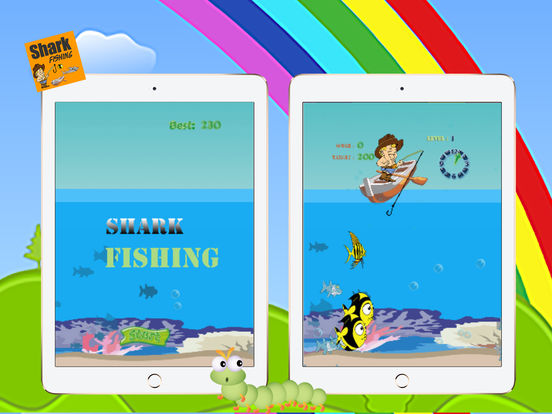 Shark fishing game and big fish hunter in deep sea for Shark fishing games