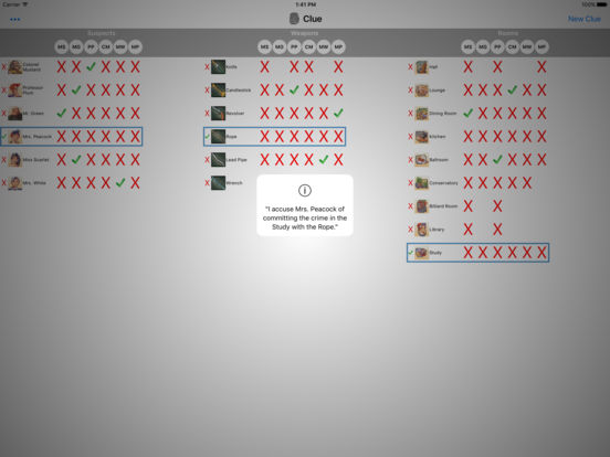 Clue Buster iPad Screenshot 2