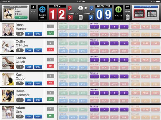 iStatVball 2 iPad Edition iPad Screenshot 2