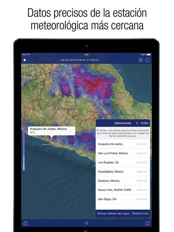 Radar del clima pron stico del tiempo en app store for Pronostico del tiempo accuweather