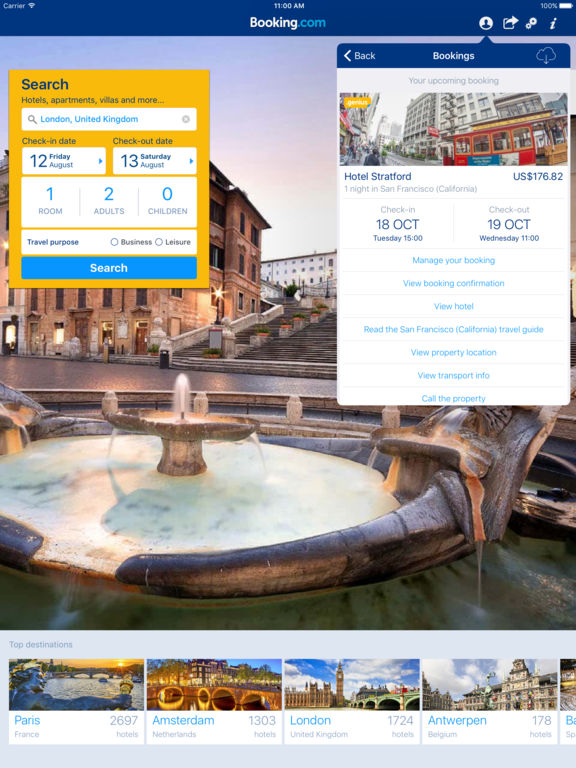 Hotel Reservations - Booking.com - Hotels Worldwide & Hotel Deals screenshot